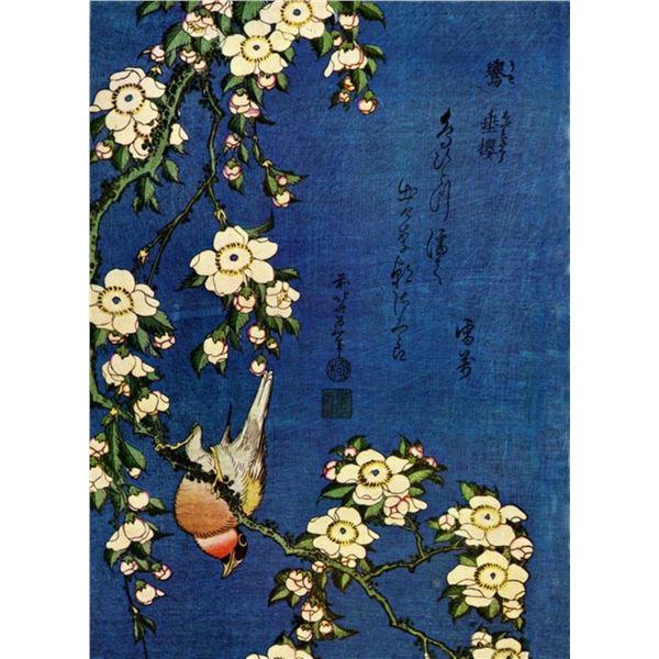 Hokusai - Bullfinch and Drooping Cherry