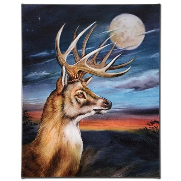 """""""White Tail Moon"""" Limited Edition Giclee on Canvas by Martin Katon, Numbered and"""