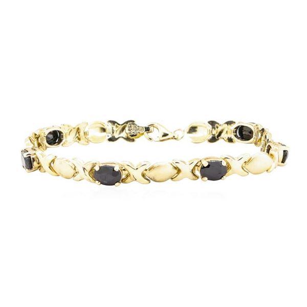 6.00 ctw Sapphire Bracelet - 10KT Yellow Gold
