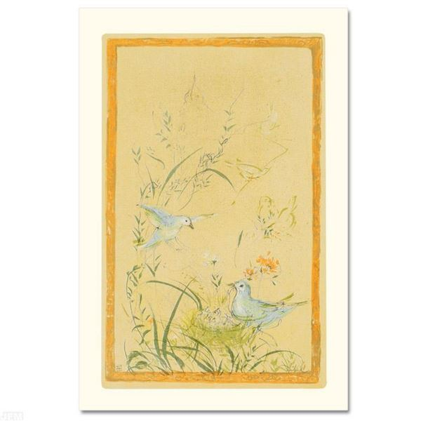 """""""Printemps"""" Limited Edition Lithograph by Edna Hibel, Numbered and Hand Signed w"""