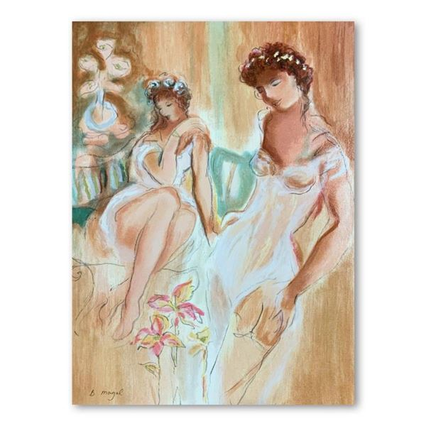 "Batia Magal, ""Sister"" Hand Signed Limited Edition Serigraph on Paper with Letter"