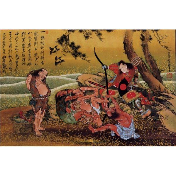 Hokusai - Tametomo and the Demons
