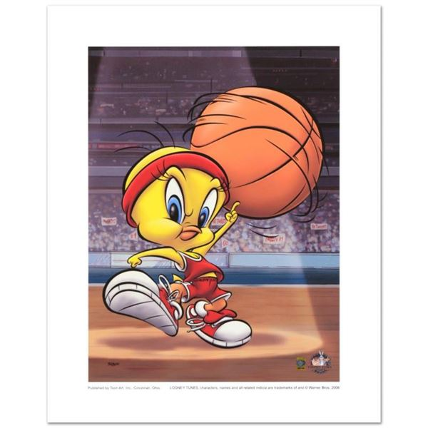 """""""Roundball Tweety"""" Limited Edition Giclee from Warner Bros., Numbered with Holog"""