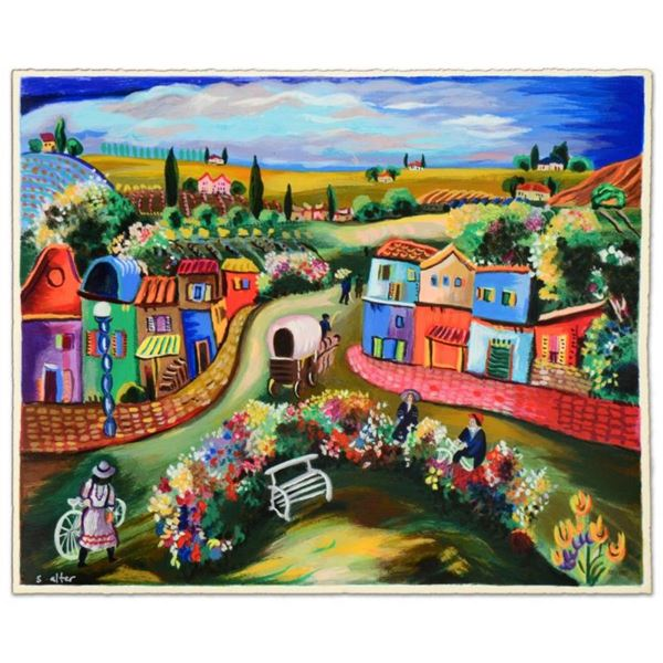 """Shlomo Alter, """"Busy Day in the Country"""" Limited Edition Serigraph, Numbered and"""