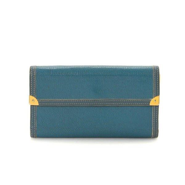 Louis Vuitton Turquoise Monogram Porte Tresor International Wallet