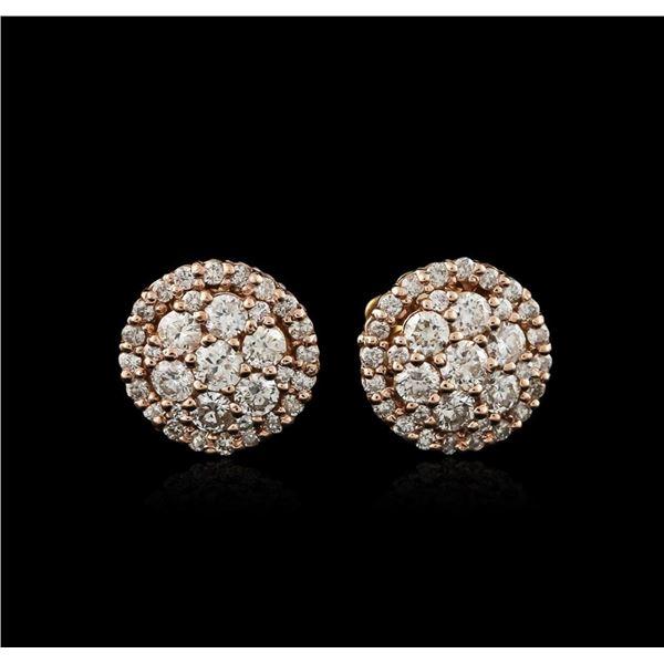 14KT Two-Tone Gold 1.31 ctw Diamond Earrings