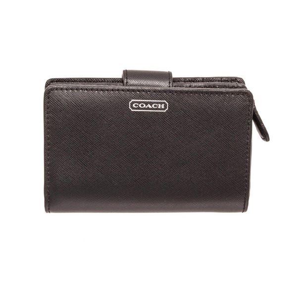 Coach Black Darcy Leather Tab Wallet