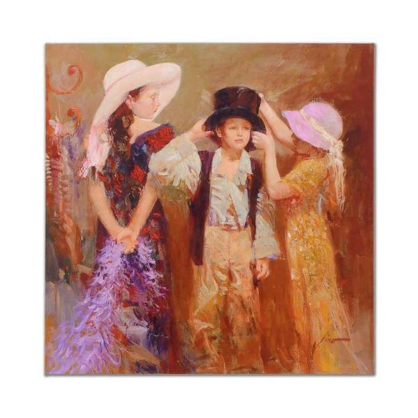 """Pino (1939-2010), """"Dress Up"""" Artist Embellished Limited Edition on Canvas, AP Nu"""