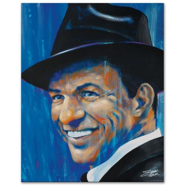 """""""Old Blue Eyes"""" Limited Edition Giclee on Canvas by Stephen Fishwick, Numbered a"""