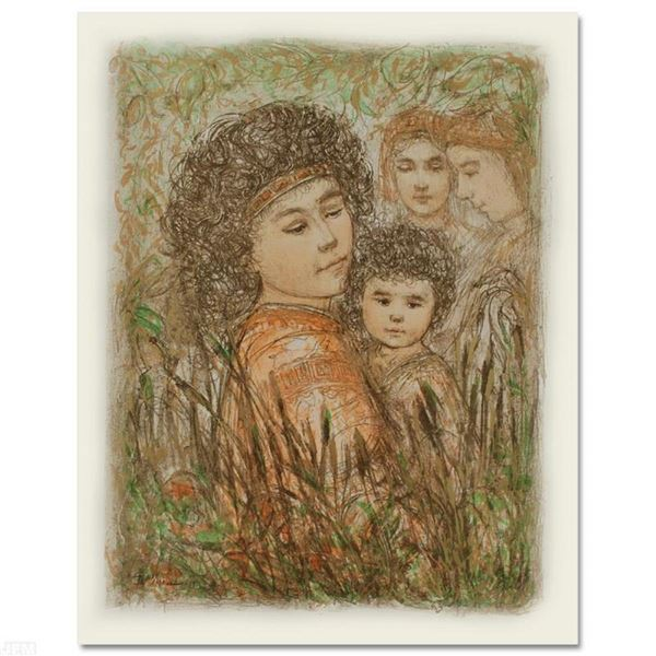 """""""Pharaoh's Daughter with Moses in Bulrushes"""" Limited Edition Lithograph by Edna"""