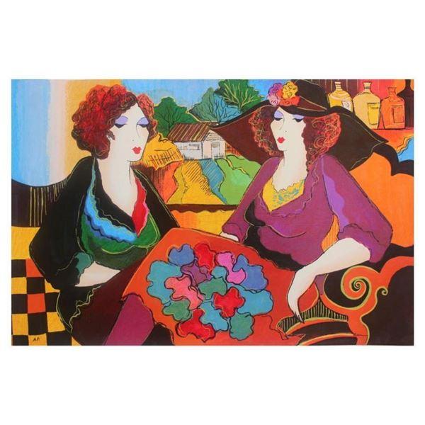 "Patricia Govezensky, ""Villa Saint Tropez"" Hand Signed Limited Edition Serigraph"