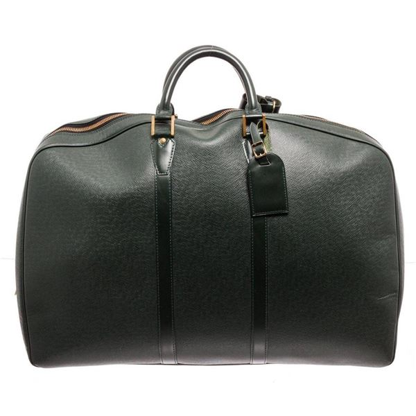 Louis Vuitton Dark Green Leather Kendall GM Handbag