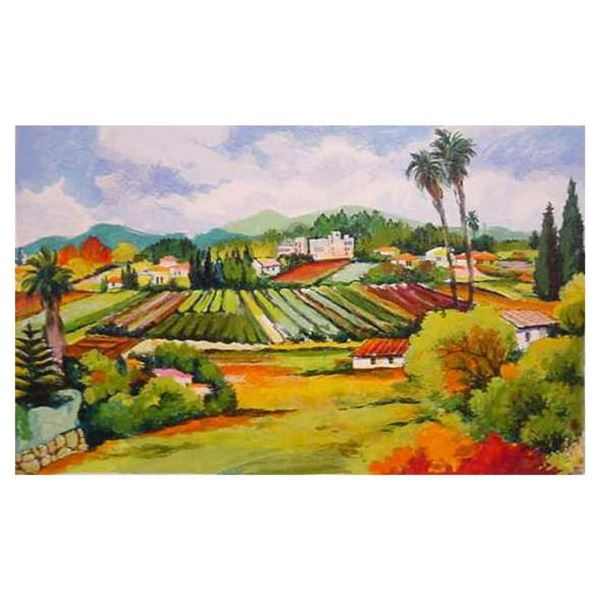 """Zina Roitman, """"Provence"""" Hand Signed Limited Edition Serigraph with Letter of Au"""