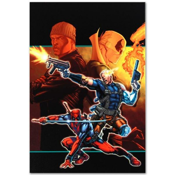 """Marvel Comics """"Cable & Deadpool #21"""" Numbered Limited Edition Giclee on Canvas b"""