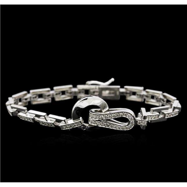 1.65 ctw Diamond Bracelet - 14KT White Gold
