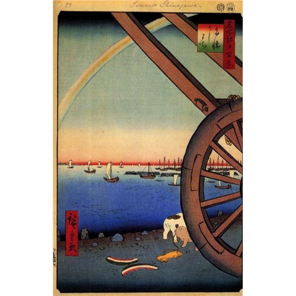 Hiroshige  - Ushimaci, Takanawa