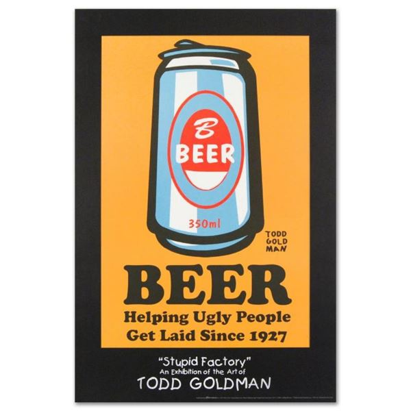 """""""Beer: Helping Ugly People Get Laid Since 1927"""" Collectible Lithograph (24"""" x 36"""