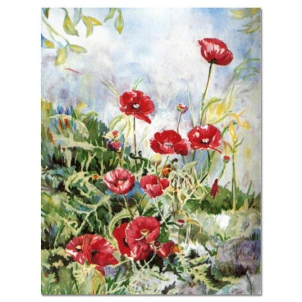 """Perla Fox, """"Anenomes"""" Hand Signed Limited Edition Serigraph with Letter of Authe"""