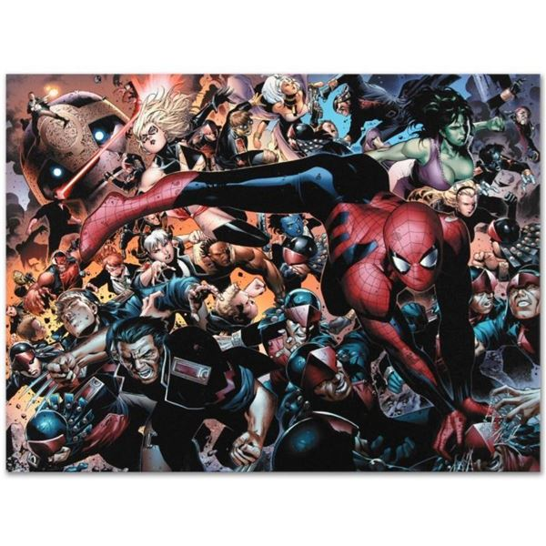 """Marvel Comics """"New Avengers #45"""" Numbered Limited Edition Giclee on Canvas by Ji"""