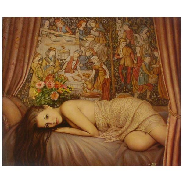 """Anatoly Petkevich, """"Boudoir"""" Limited Edition on Canvas, AP Numbered and Hand Sig"""
