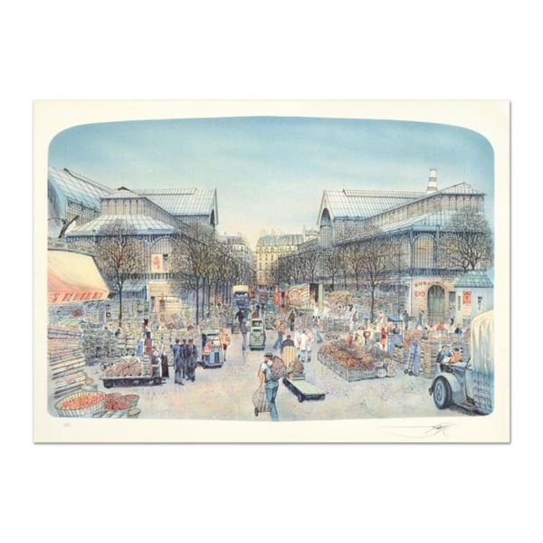 """Rolf Rafflewski, """"Les Halles"""" Limited Edition Lithograph, Numbered and Hand Sign"""