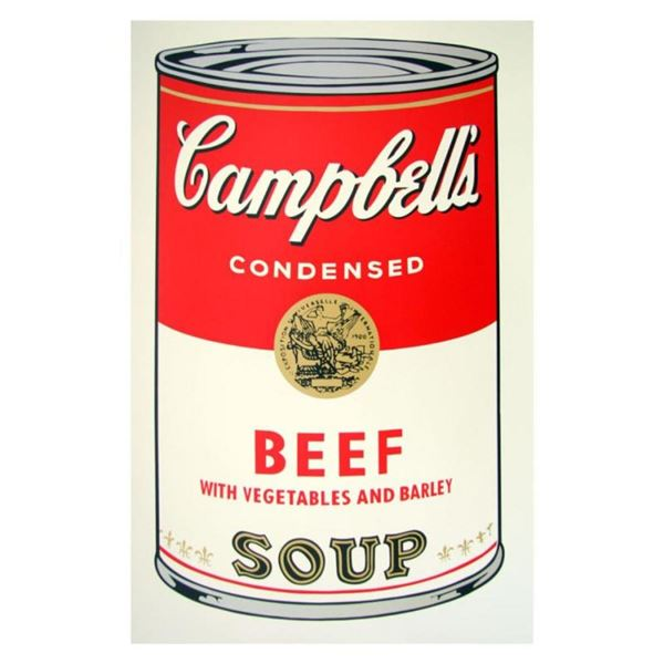 """Andy Warhol """"Soup Can 11.49 (Beef w/Vegetables)"""" Silk Screen Print from Sunday B"""