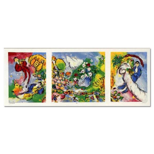 """Ben Avram, """"Peace and Happiness"""" Hand Signed Limited Edition Serigraph with Lett"""