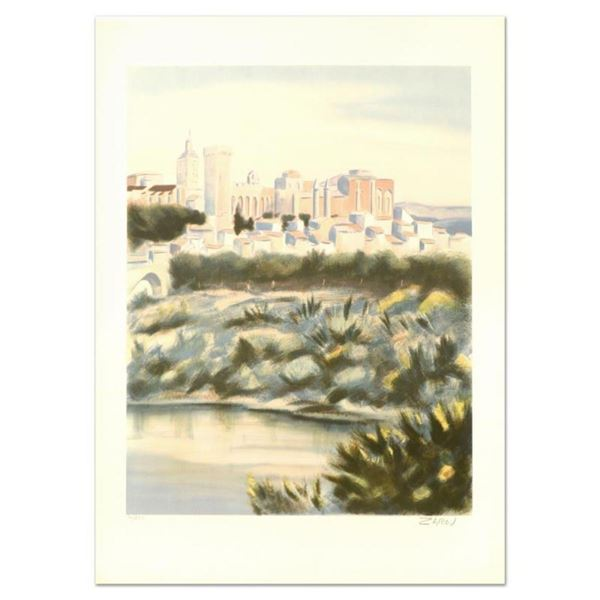 """Victor Zarou, """"Chateu Rio Renne"""" Limited Edition Lithograph, Numbered and Hand S"""
