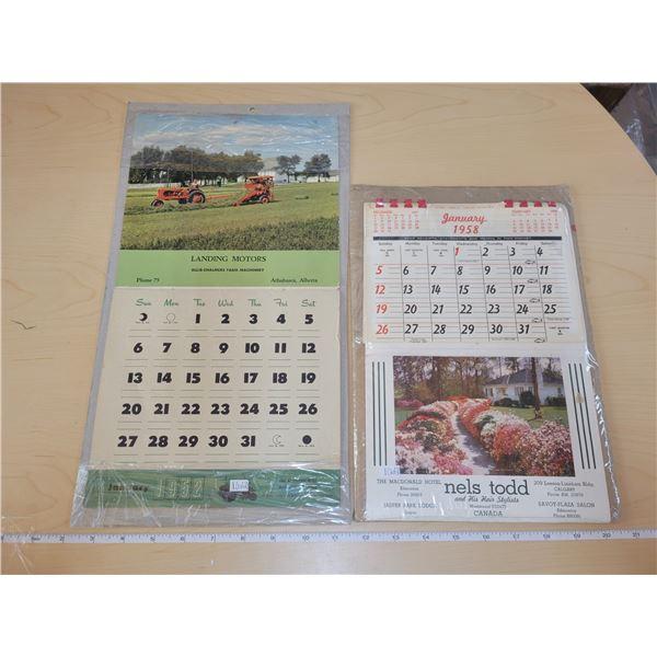 2 calendars - Complete 1952 & 1958