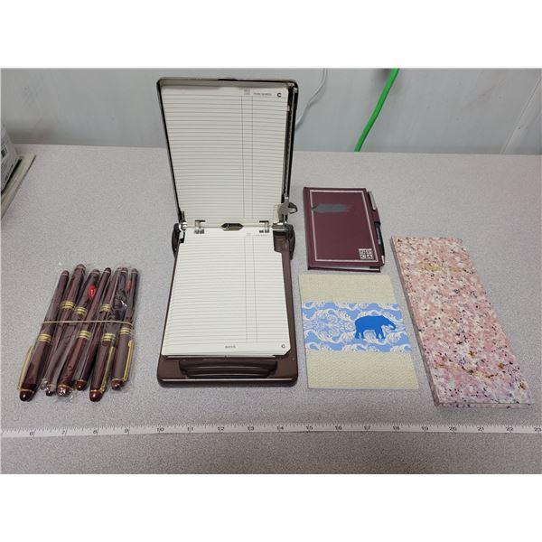 4 misc. directories & 7 fountain pens