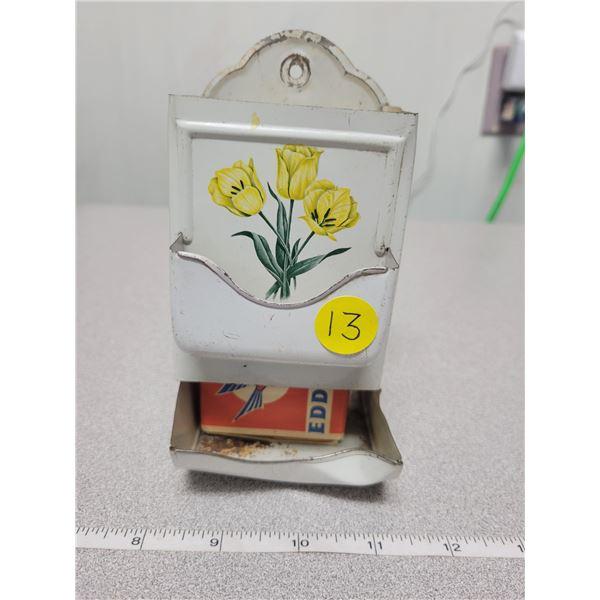 Match box holder with box