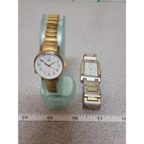 2 watches - 1 ladies Timex Indiglo, 1 Men's terner