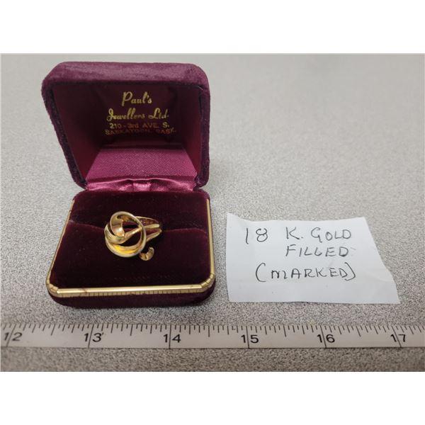 18K gold filled ring size 6