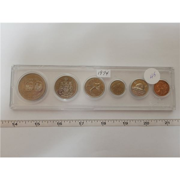 1974 Canadian proof coin set