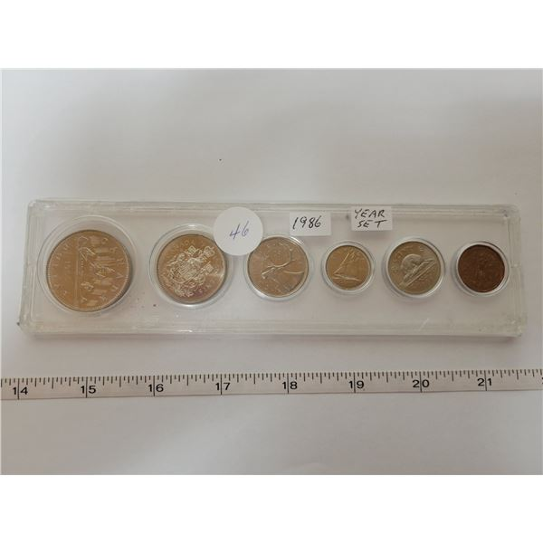1986 Canadian proof coin set