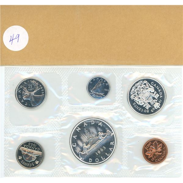 1963 Canadian proof coin set