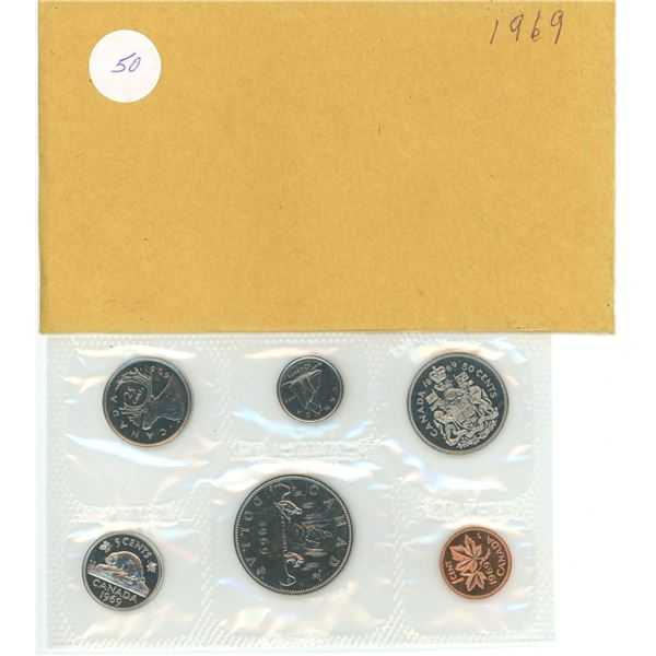 1969 Canadian proof coin set