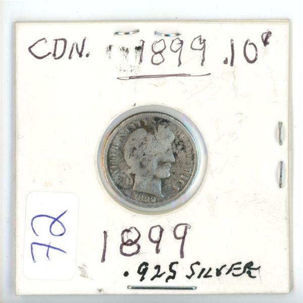 1899 Cdn silver small 10¢ coin