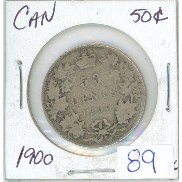 1900 Cdn silver 50¢ coin
