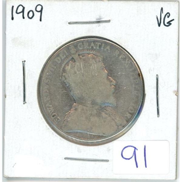 1909 Cdn silver 50¢ coin
