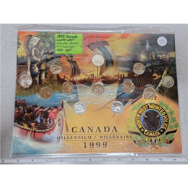1999 Canada mill. N/W Mounted Police coin set  - 12 special quarters