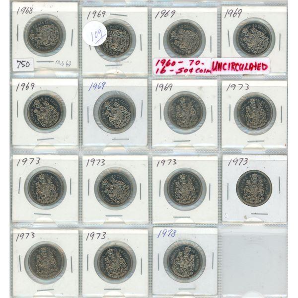15 Canadian nickel dollars