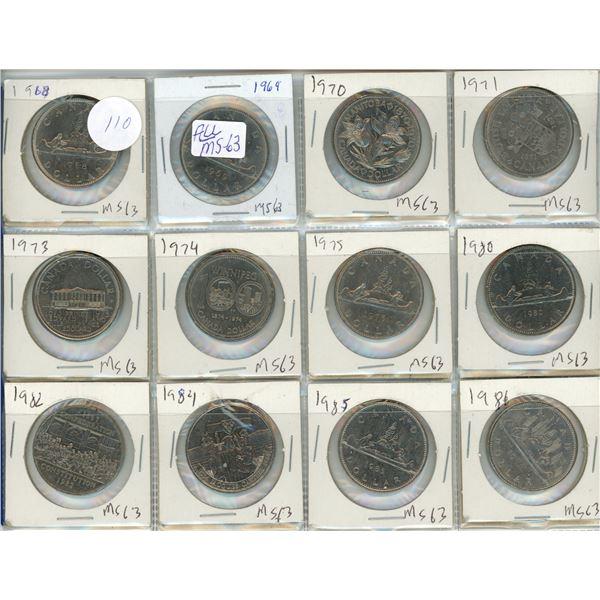 12 Canadian nickel dollars