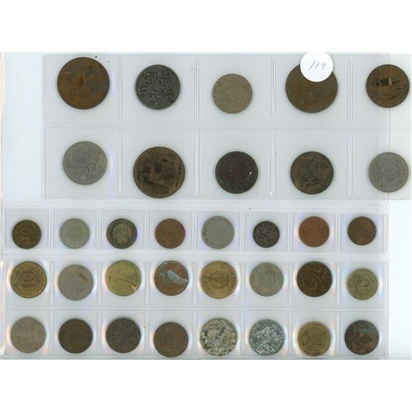 25 foreign coins