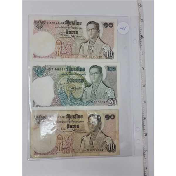 3 foreign bank notes