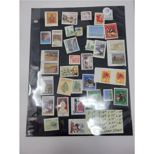 26 Unused Canadian stamps