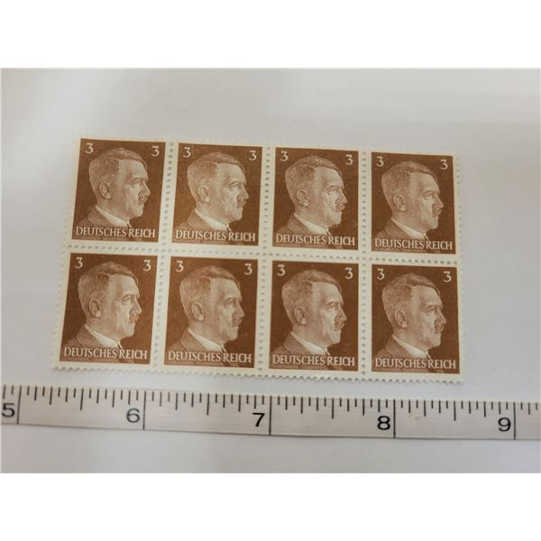8 3¢ Hitler's unused stamps