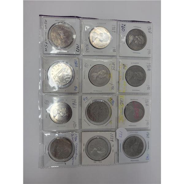 18 Canadian nickel dollars various dates