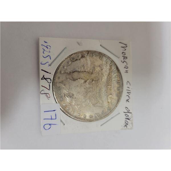 1878 US Morgan .29 silver coin