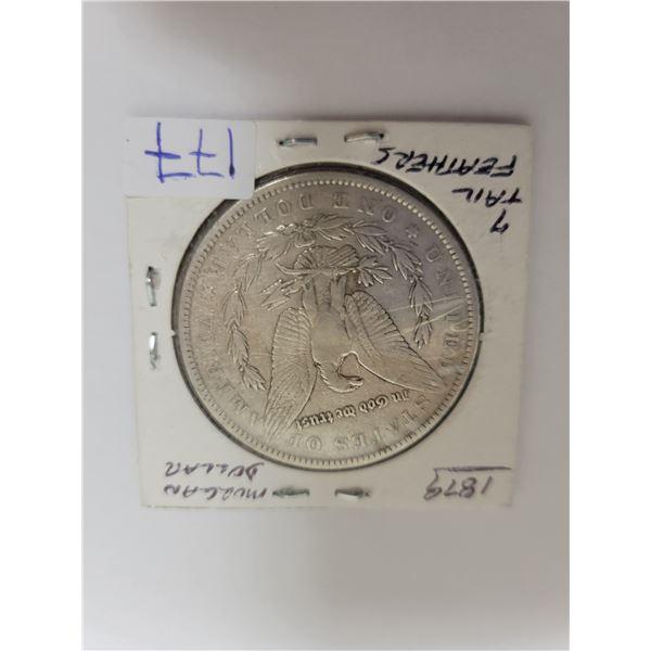1879 US Morgan .29 silver coin